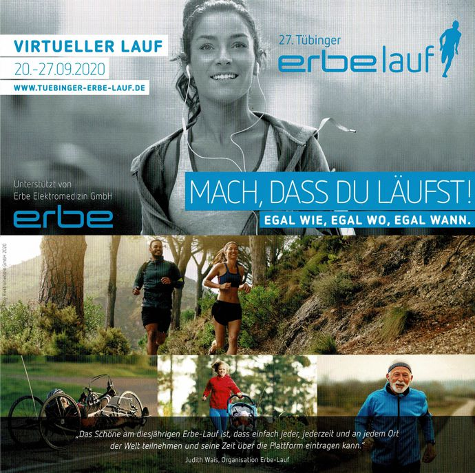 Virtueller ERBE-Lauf 2020 in Tübingen